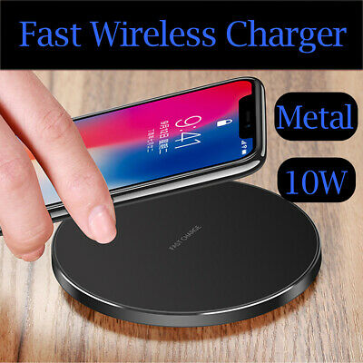 Luxury Qi Fast Wireless Charger Charging Pad For Apple IPhone XS Max Xr X 8 Plus • 9.95£