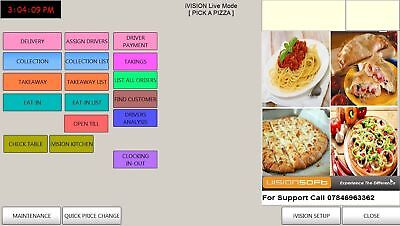 EPOS Pos Till System Ivision Takeaway Restaurant Delivery Software • 250£