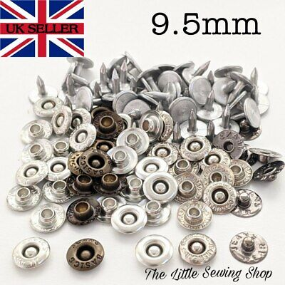 10 X Jean Tack Metal Rivets Buttons Studs Leather Denim With Pins 9.5mm • 2.25£