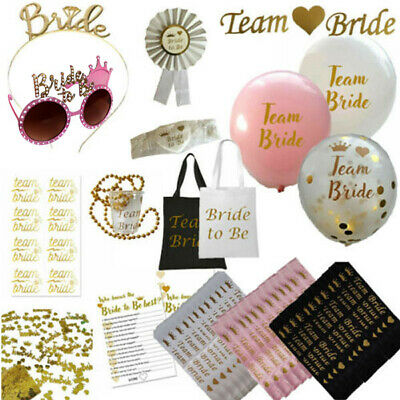 £3.99 • Buy Team Bride Hen Party Night Do Bride To Be Sashes Veil Rose Gold Accessories Lot