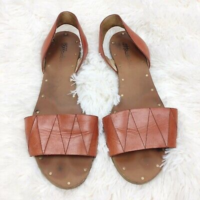 a1165cdc0568 Madewell Womens 6.5M Red Brown Etruscan Clay Abbi Leather Slingback Sandals  • 29.75