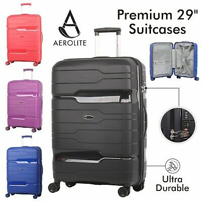 Aerolite 28  Ultra Secure Large Suitcase ABS Hard Shell Hold Luggage Bag 8 Wheel • 39.99£