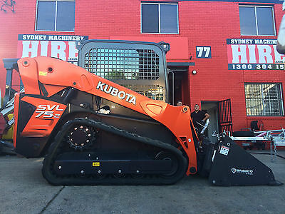 AU400 • Buy Sydney Machinery Hire 4 Tonne Tracked Skid Steer Loader Dry Hire - 4in1 Bucket