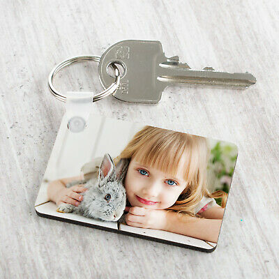 £3.99 • Buy Personalised Photo Keyring Any Picture Custom Keychain Double Single Side Print