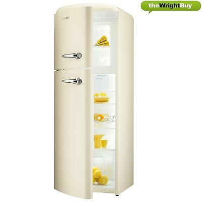 View Details Gorenje RF60309OC-L 60cm Left Opening 1950s Retro Cream Top Mount Fridge Freezer • 599.99£