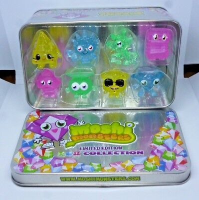Moshi Monsters Limited Edition ROX Collection Tin 2011 Vivid Toy Group  X 8 Mosh • 9.08£