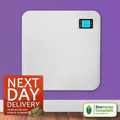 400w Slim Wall Mounted Electric Bathroom Panel Radiator Heater With Timer • 49.95£