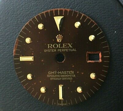 $ CDN2245.87 • Buy Vintage Rolex GMT Master Brown Gloss Dial For 1675 Watch For Parts BUY IT NOW