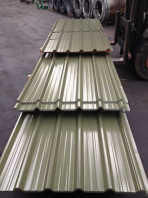 £3 • Buy Olive Green Profile Sheets Plastic Coated,corrugated Steel Sheets