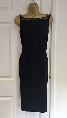 £9.99 • Buy Principles Size 12 Black Strappy Dress Beaded Neck And Straps Party Classic