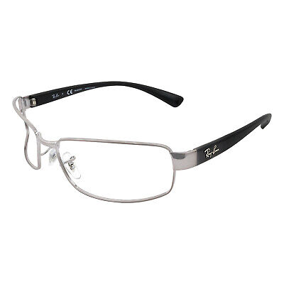 225600241255d Authentic Ray Ban Frame 62-17-125 New Silver And Black Eyeglasses RB 3364