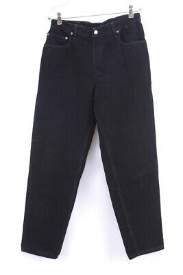 43a0f733 Vintage Mens Black LEVIS 560 Jeans Made In USA Loose Fit Tapered Leg 34 X 32