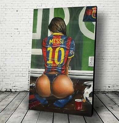 AU426.25 • Buy  Leo Messi Poster Wall Art Jersey Soccer Argentina Barcelona Fan Worldcup Decor