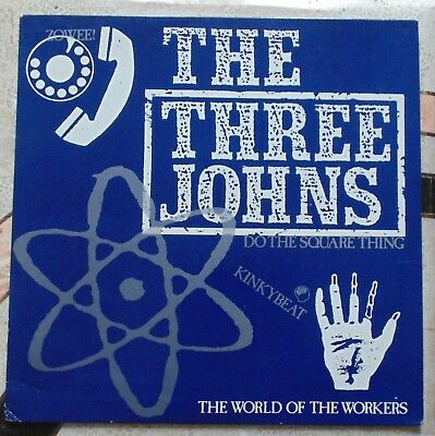 The Three Johns - Do The Square Thing Rare 12  Single Abstract Records • 13.50£