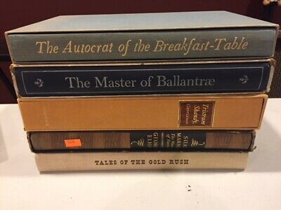 $21 • Buy Lot Of 5 Heritage Club Hardcover Books - The Master Of Ballantrae ~ Silas Marner