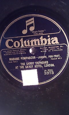 £4 • Buy Savoy Orpheans,10 78, Madam Pompadour,waltz And Fox Trot, Columbia (a-560,3373)