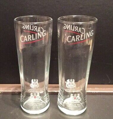 Carling Lager Half Pint Glasses X2 CE Marked New And Unused • 3£
