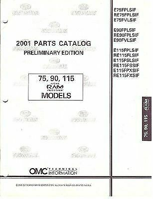 2001 johnson outboard motor 75 90 115 ram parts manual • 8 95$