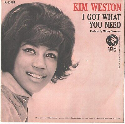 £16 • Buy Kim Weston--picture Sleeve + 45--(i Got What You Need)--ps--pic--slv