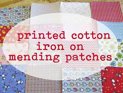 £2.35 • Buy Pattern Iron On Mending Patches Cotton Patches Iron-on Fabric Self-adhesive Fix