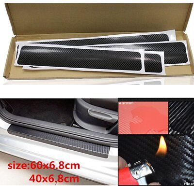 $2.99 • Buy  4PACK Parts Car Accessories Door Sill Scuff Pedal Protect Carbon Fiber Sticker