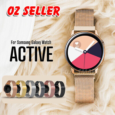 AU11.95 • Buy Samsung Galaxy Watch Active 2 Milanese Magnetic Stainless Steel Replacement Band