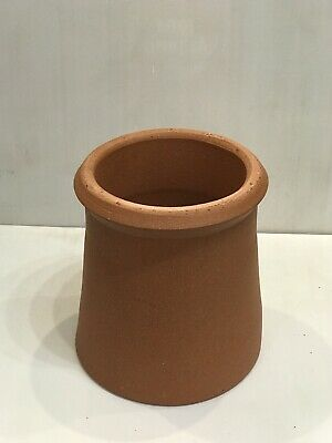 "Clay Chimney Pot Cannon Shape Roll Top 12"" Height With 8"" Internal Diameter • 39£"