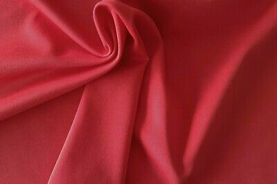 Top Quality Red Ponte Roma KnittedJersey Fabric/Material - 1 Full Metre • 5.95£
