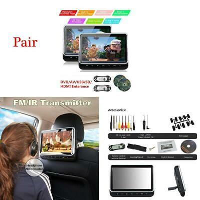 $257.89 • Buy 1 Pair 10.1'' Car Headrest DVD Player HD LED Touch Screen USB/SD Slot HDMI Port
