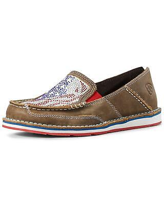Ariat Women's Sequin Stars And Stripes Cruiser Shoes - Moc Toe - 10028604 • 58.18$
