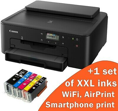 Wireless Printer, Prints CD/DVD, Canon TS705 Printer+5 XXL Inks, WiFi Smartphone • 88.88£