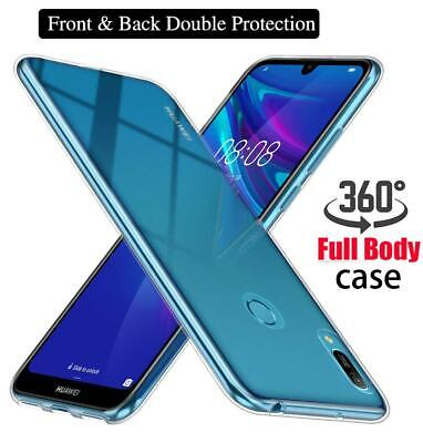Case For Huawei Y6 Y7 Y9 2019 P30 Silicon 360 Shockproof Tough Clear Phone Cover • 3.90£