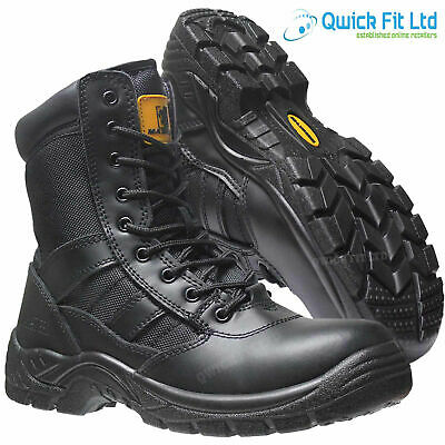 £28.90 • Buy New Mens Military Army Leather Combat Work Zip Up Walking Ankle Boots Shoes Size