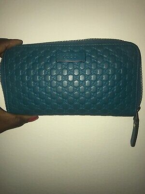 3aa372d8ffc GUCCI Micro GG Guccissima Leather Zip Around Wallet Red • 125.00