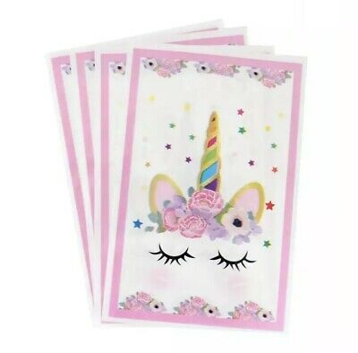 AU6 • Buy 10pcs / Pack Cute Unicorn Themed Party Loot Candy Bags For Birthday Pink Floral