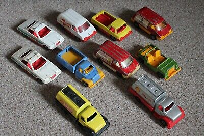 "Bundle Of 11x Corgi Cubs 4.5"" Diecast Vintage Cars AMBULANCE POLICE SHELL TANKER • 20£"