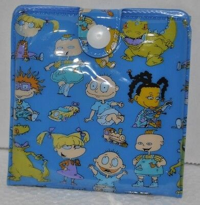 8f849c29 Rugrats Tommy Angelica Phil Reptar Chuckie Small Snap Button Wallet Blue  NEW • 11.83$