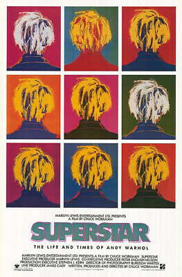 $44.99 • Buy Superstar (Andy Warhol) (1991) Original Movie Poster - Single-sided - Rolled