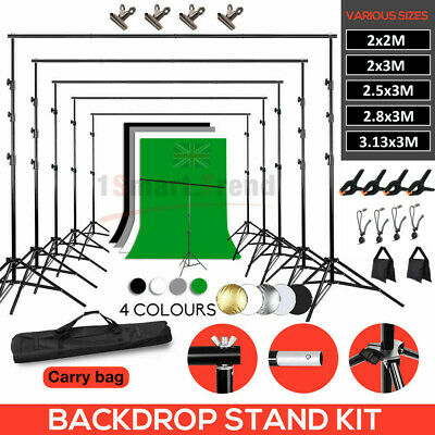 Studio Heavy-Duty Backdrop Screen Stand KIT Photo Background Support System Set • 42.58£