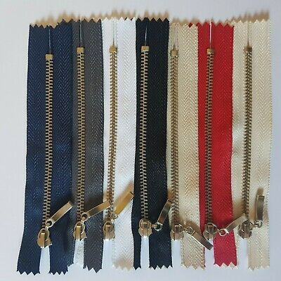 Metal Chrome Silver Teeth Zips - No 3 Weight Zipper Closed Or Open End  • 3.50£