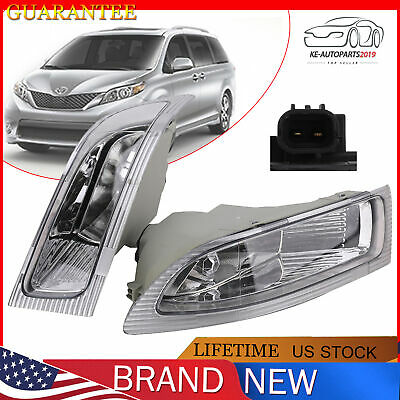 $35.99 • Buy Fog Lights Lamps (LEFT & RIGHT) W/ Bulbs For 2004-05 Toyota Sienna 81220-AE010