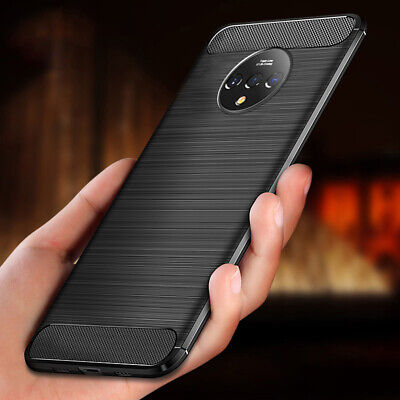 AU4.67 • Buy For OnePlus 7T 7 Pro 6T 5T Slim Silicone Carbon Fober Texture Black Case Cover