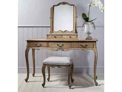 Frank Hudson French Style Chic Weathered Dressing Table Set (Table, Stool, Mi... • 977£