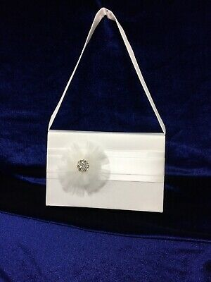 £9.99 • Buy Ivory Tulle Corsage Satin Holy Communion Bag, Bridesmaid/Flower Girl BN