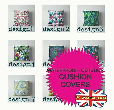 Square Outdoor Tropical Patterns Waterproof Cushion Cover Cushion Pillow Cases • 12.20£