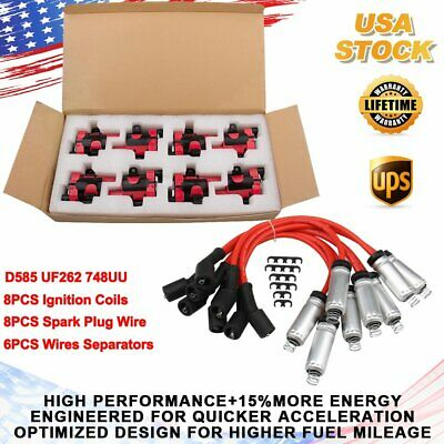 $119.99 • Buy For Chevy Silverado GMC LS1 LS3 4.8 5.3L D585 UF262 Ignition Coils & Plug Pack