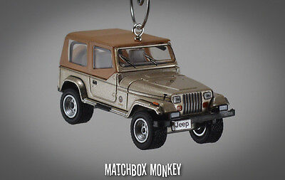 AU48.93 • Buy 1993 Jeep Wrangler Sahara Soft Top Custom Ornament 1/64 XJ YJ Sand Beige Tan