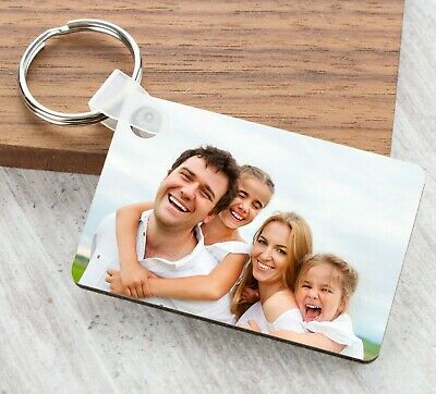 £3.99 • Buy Personalised Keyring Photo Picture Fathers Mother Day Gifts Keychain Mum Grandma