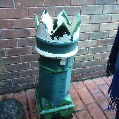Reclaimed Victorian Painted King Crown Clay Chimney Planter Pot Roof • 29.99£