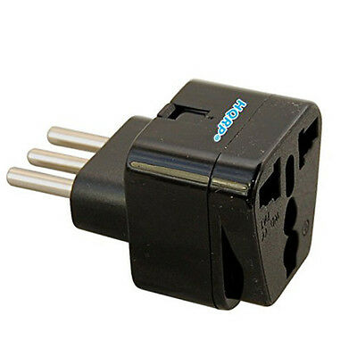 Grounded Universal Travel Plug Adapter From USA Japan Europe Swiss UK To Italy • 3.26£